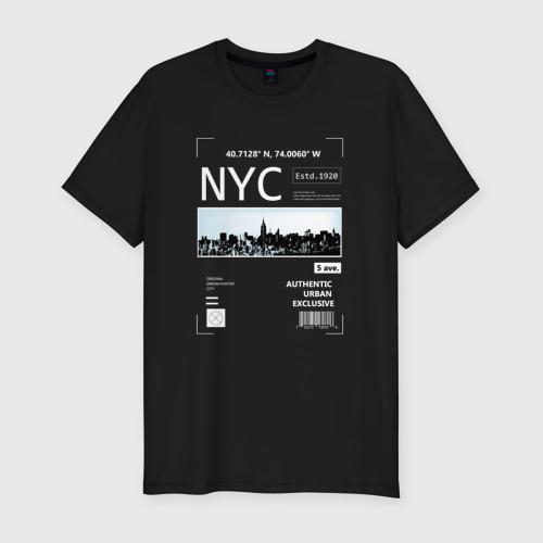 Мужская футболка хлопок Slim Нью Йорк