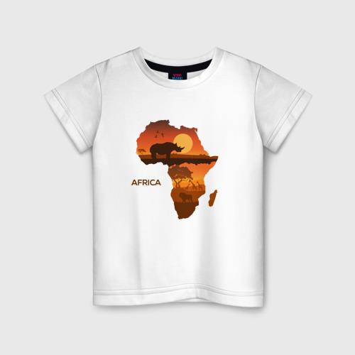 Детская футболка хлопок Африка