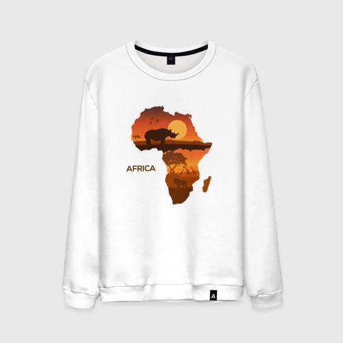 Мужской свитшот хлопок Африка