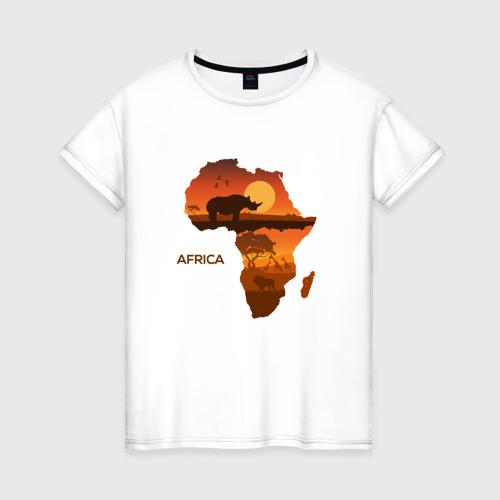 Женская футболка хлопок Африка