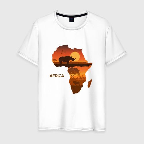Мужская футболка хлопок Африка