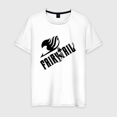 Мужская футболка хлопок Хвост Феи логотип с эмблемой