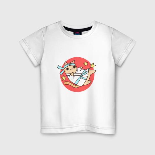 Детская футболка хлопок Карате кот
