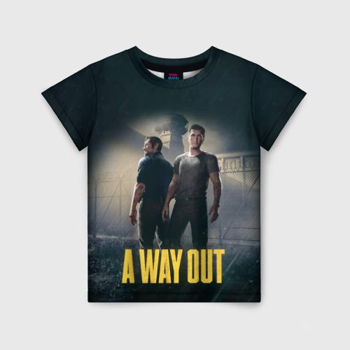 Детская футболка 3D A WAY OUT