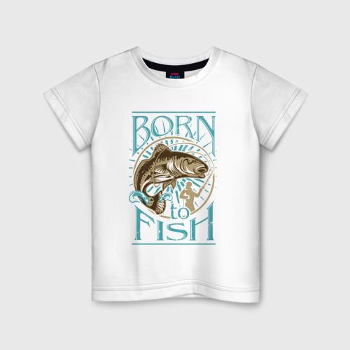 Детская футболка хлопок Рыбалка
