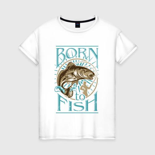 Женская футболка хлопок Рыбалка