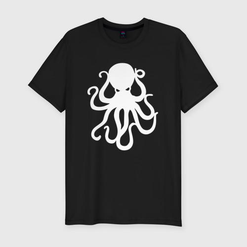 Мужская футболка хлопок Slim Осьминог