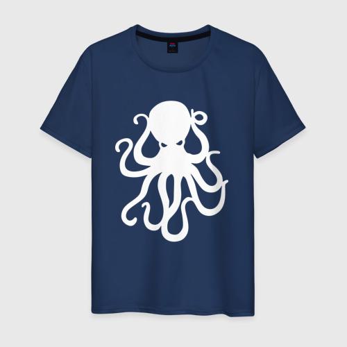 Мужская футболка хлопок Осьминог