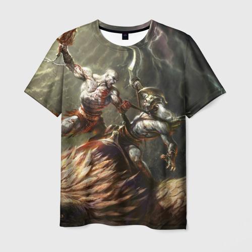 Мужская футболка 3D Бог войны