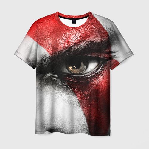 Мужская футболка 3D Взгляд Кратоса