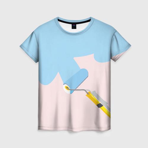 Женская футболка 3D Больше красок