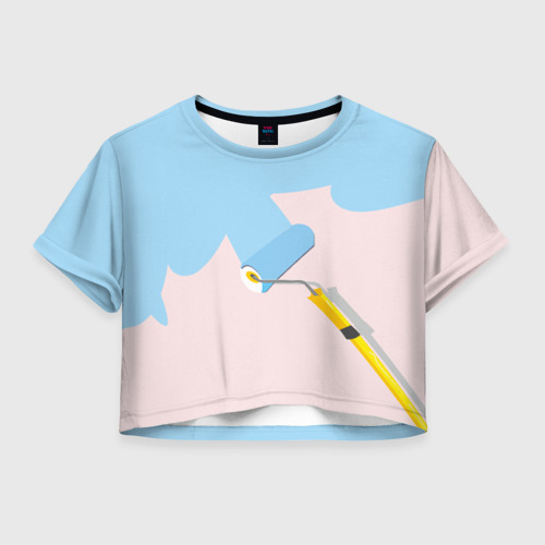 Женская футболка Crop-top 3D Больше красок