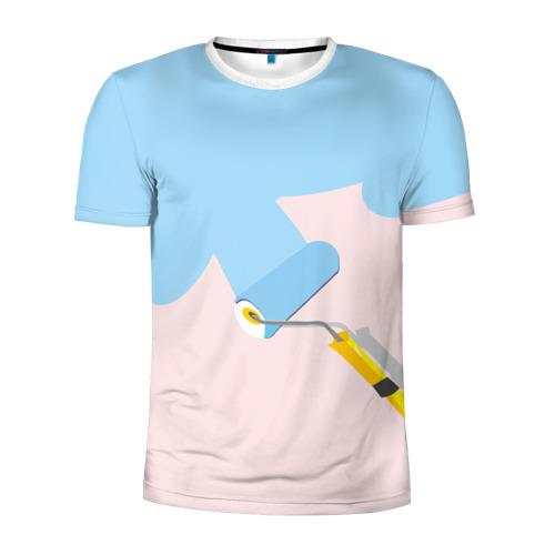 Мужская футболка 3D спортивная Больше красок