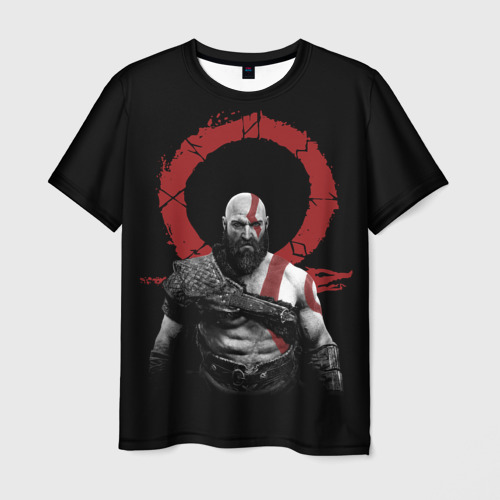 Мужская футболка 3D God of War 4