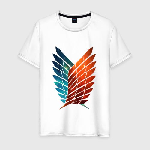 Мужская футболка хлопок Двуцветный логотип АТАКА ТИТАНОВ