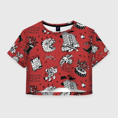 Женская футболка Crop-top 3D Summer set