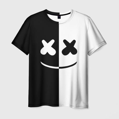 Мужская футболка 3D MARSHMELLO BLACK & WHITE