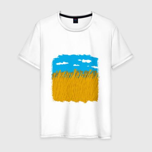 Мужская футболка хлопок Украина в колосьях