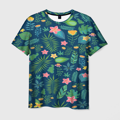 Мужская футболка 3D Тропики