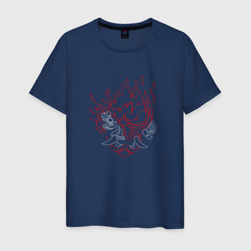 Мужская футболка хлопок CYBERPUNK 2077 SAMURAI | САМУРАИ