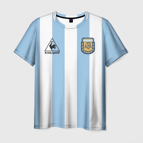 Мужская футболка 3D Марадона Аргентина ретро