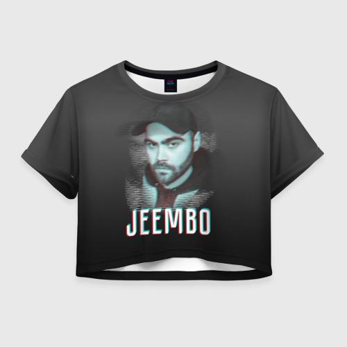 Женская футболка Crop-top 3D Jeembo glitch