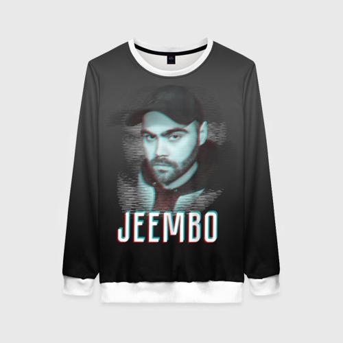 Женский свитшот 3D Jeembo glitch