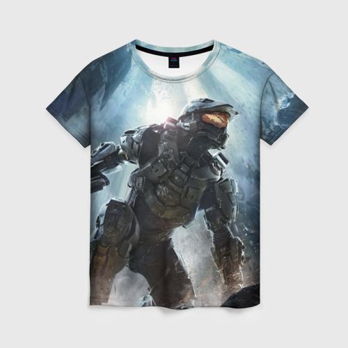 Женская футболка 3D Halo