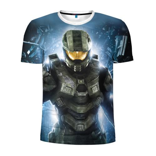 Мужская футболка 3D спортивная Halo