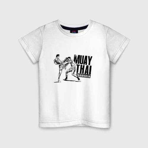 Детская футболка хлопок Muay Thai. Тайский бокс