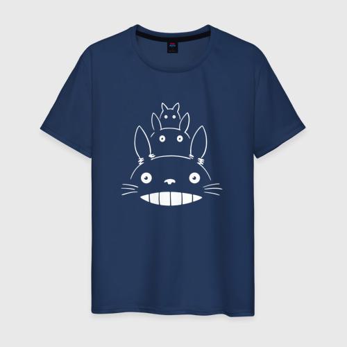 Мужская футболка хлопок Лицо Тоторо