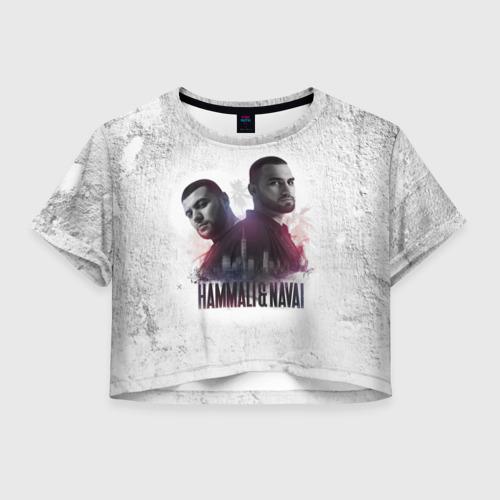 Женская футболка Crop-top 3D HammAli&Navai