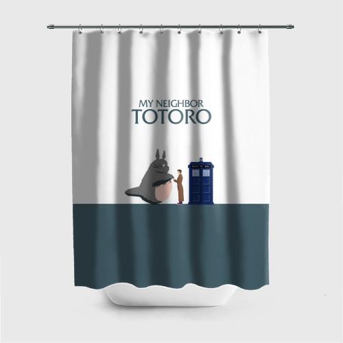 Штора 3D для ванной Мой сосед Тоторо