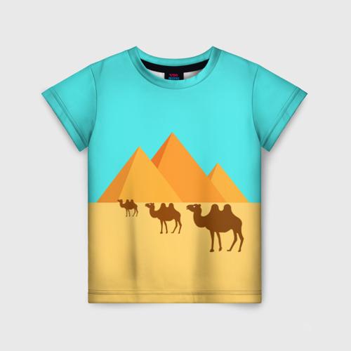 Детская футболка 3D  Пирамиды Египта