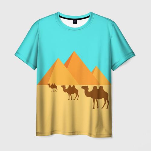 Мужская футболка 3D  Пирамиды Египта