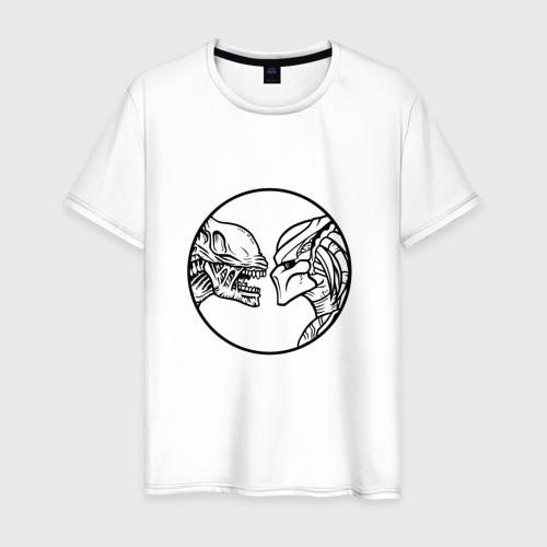 Мужская футболка хлопок ЧУЖОЙ ПРОТИВ ХИЩНИКА