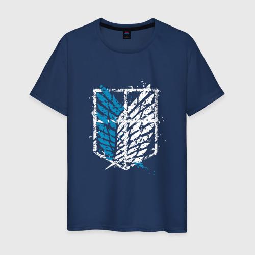 Мужская футболка хлопок АТАКА ТИТАНОВ. Разрущающийся логотип