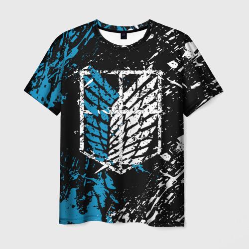Мужская футболка 3D АТАКА ТИТАНОВ в основных цветах