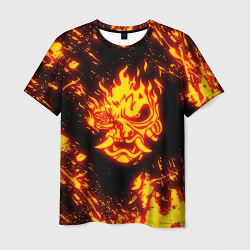 Мужская футболка 3D CYBERPUNK 2077 SAMURAI | САМУРАИ