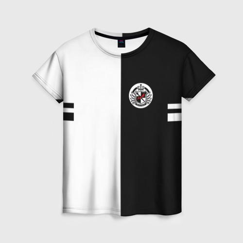 Женская футболка 3D MONOKUMA SCHOOL   МОНОКУМА ШКОЛА