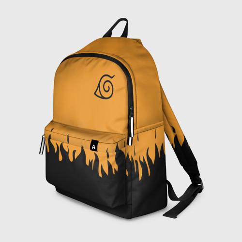 Рюкзак 3D Черный огонь деревня листа