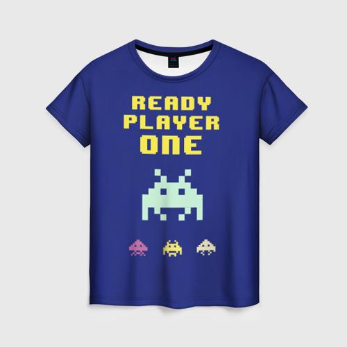 Женская футболка 3D Первому игроку приготовиться