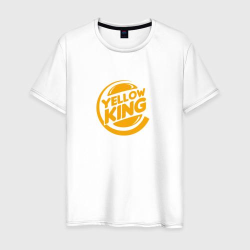 Мужская футболка хлопок Желтый Король