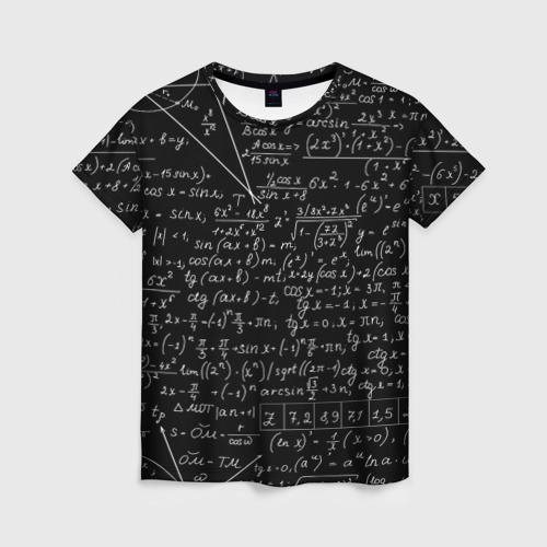 Женская футболка 3D ФОРМУЛЫ АЛГЕБРА