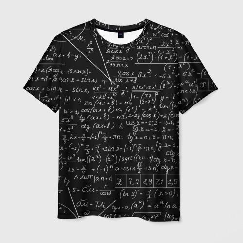 Мужская футболка 3D ФОРМУЛЫ АЛГЕБРА