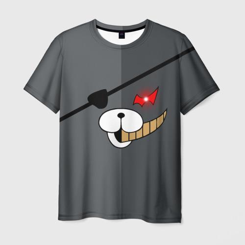 Мужская футболка 3D KUROKUMA  на сером