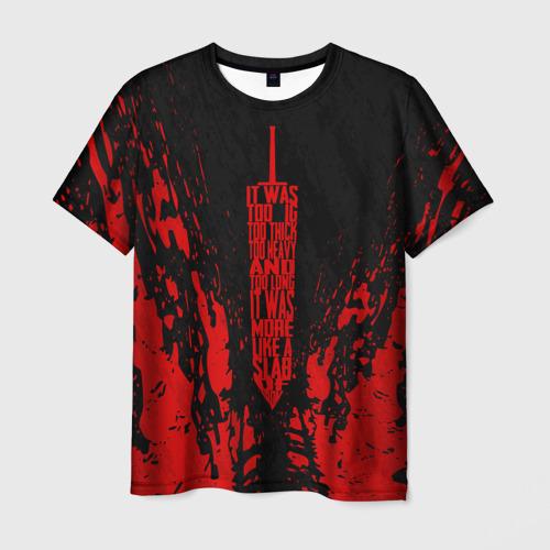 Мужская футболка 3D BERSERK sword red