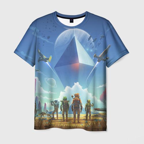Мужская футболка 3D No man's sky