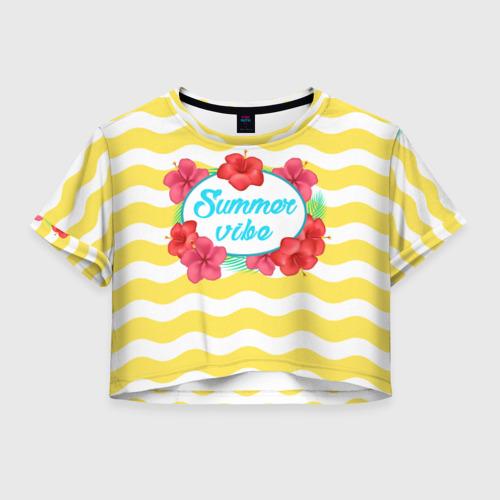 Женская футболка Crop-top 3D Summer vibe
