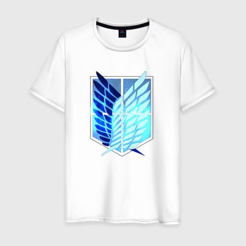 Мужская футболка хлопок Атака Титанов Эмблема